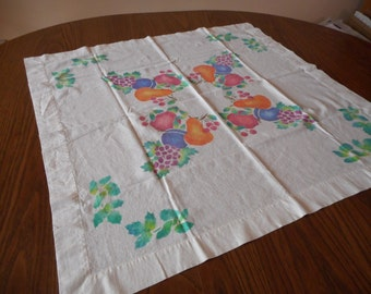 Vintage Hand Painted Table Cloth