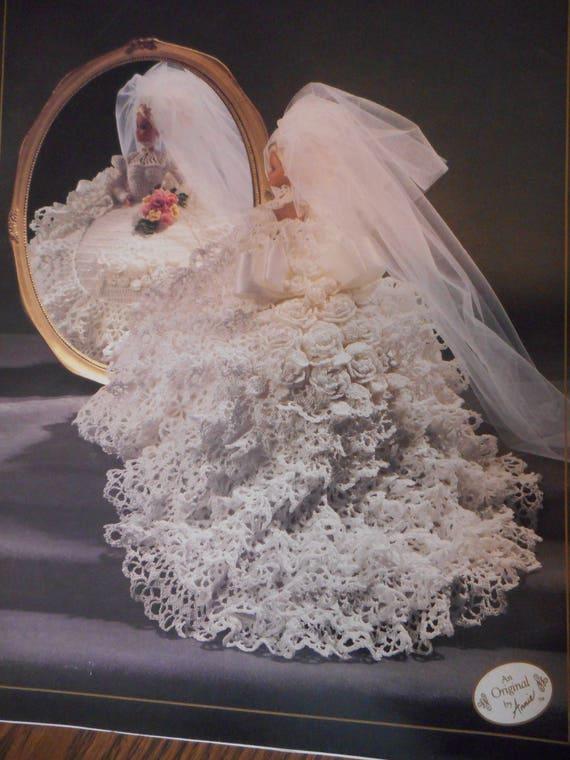 Annie Braut Puppe Kleid Muster 1991 häkeln ein Brautkleid | Etsy