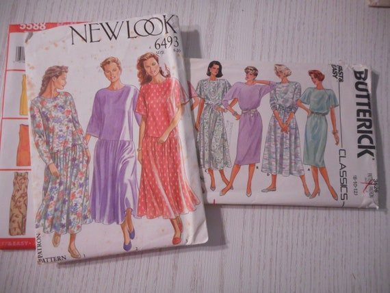Womens Comfy Dress Patterns For Knit Fabrics Sizes 8 20 Etsy