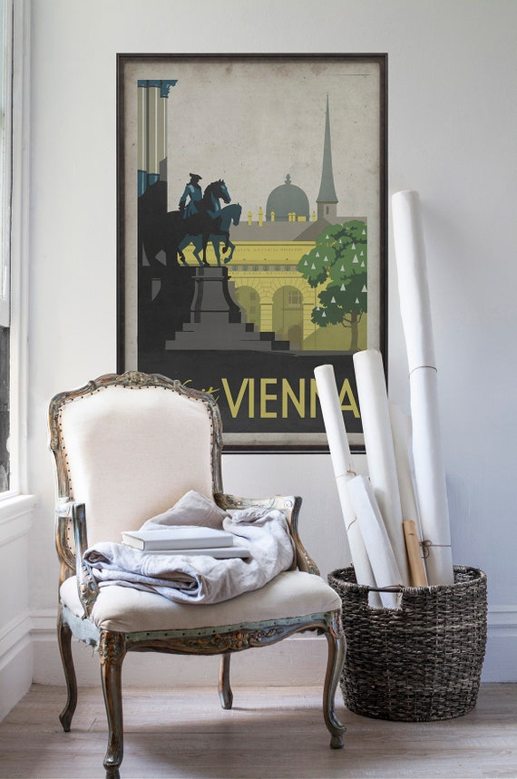 Austria Wall Art Landscape Canvas Vienna Travel Poster Collect ...