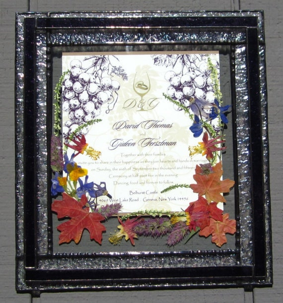 Stained Glass Wedding Invitation With Overlay Boarder Etsy