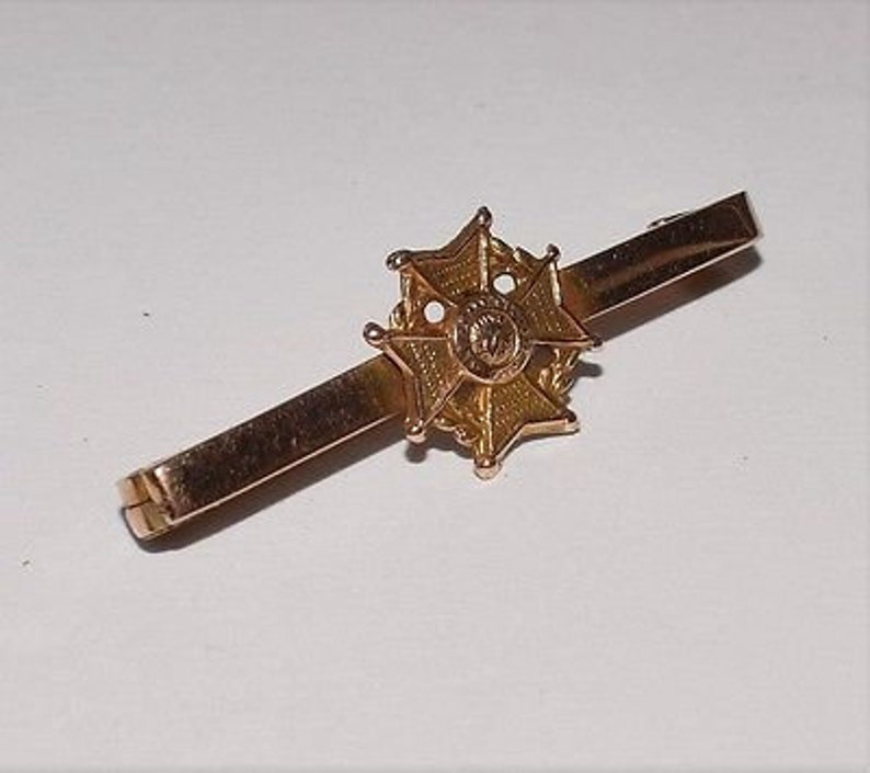 Antique 9ct Rose Gold WW1 James Fenton Military Tie Pin Sweetheart Brooch