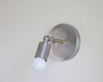 Industrial style  Adjustable Wall Sconce  light nature steel