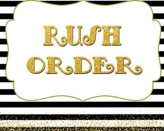 Rush Order, Printable invitation, Printable Party Package, Printable Birthday invitation