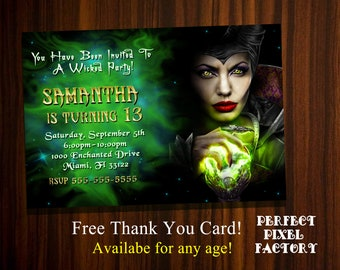 Maleficent invite | Etsy