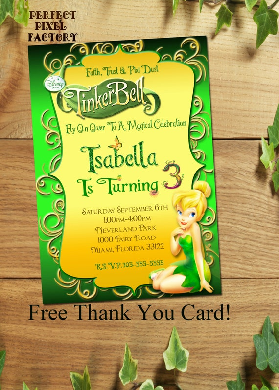 Tinkerbell InvitationTinkerbell Birthday