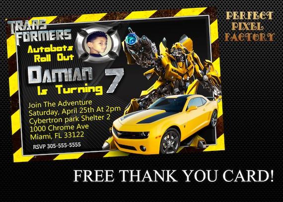 TRANSFORMER INVITATION Transformer Birthday Boy Party