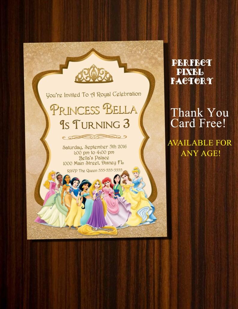 Disney Princess Invitation InvitationPrincesses