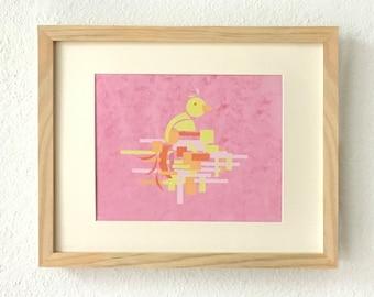 Nursery bird decor, Nursery bird prints, Nursery bird art, Bird wall decor, Bird art wall decor, Geometric animal art, Bird wall art, bird