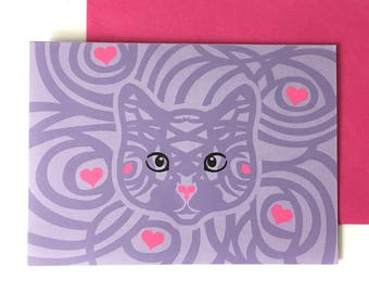 cat cards, card for cat lover, cat card love, cat card blank, cat card birthday, cat greeting card, cat lover card, cute cat card, cat lover