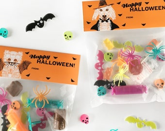 Halloween Bag Toppers, Halloween Treat Bag Toppers, Halloween Toppers Printable, Halloween Treat Bag Labels, Treat bag toppers, Candy Topper