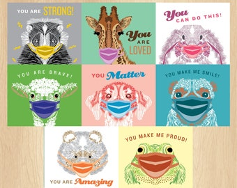Encouragement cards for kids, Encouragement cards printable, Lunch notes, Mask card, Mini cards, Motivational cards, Note cards for kids