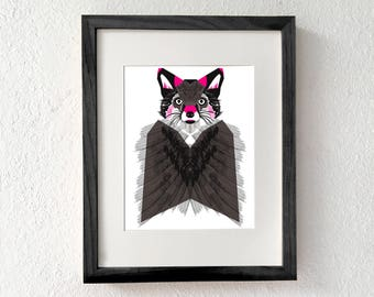 Fox art, Fox art print, Fox wall art, Fox print, Nursery fox print, Woodland creatures, Forest animal wall art, Modern fox, Fox illustration