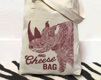 Wine tote bag, Wine bag, Funny tote bag, Wine tote, Wine and cheese, Funny wine gifts, Wine lover gift, Grocery bag, Market tote, Rhino, Bag