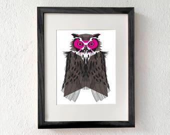 Owl art, Owl art print, Owl wall art, Owl nursery decor, owl decor, Owl home decor, Owl gifts, Owl illustration, Owl gifts for women, Owl