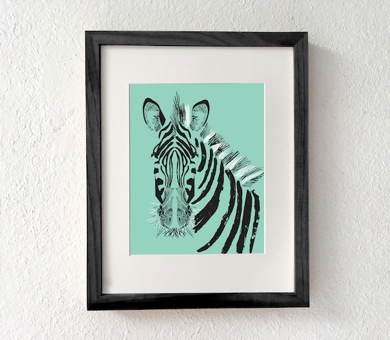 Zebra Zebra Print Zebra Art Zebra Gifts Zebra Decor Zebra Etsy
