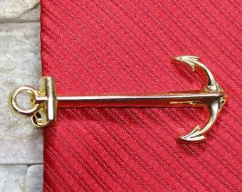Anchor Tie Clip, Anchor Tie Pin, Tie Pin Vintage, Tie Pin For Men, Groomsmen Tie Clip, Wedding Tie Pin, Groomsman Pin, Unique Tie Clip