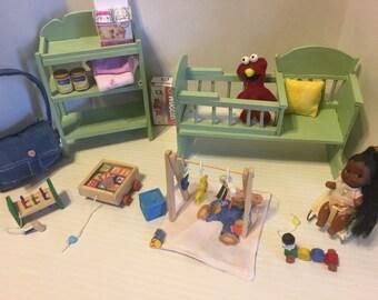Miniature baby nursery.