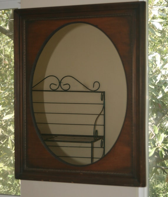 Antique Mirror And Solid Wood Antique Frame Etsy