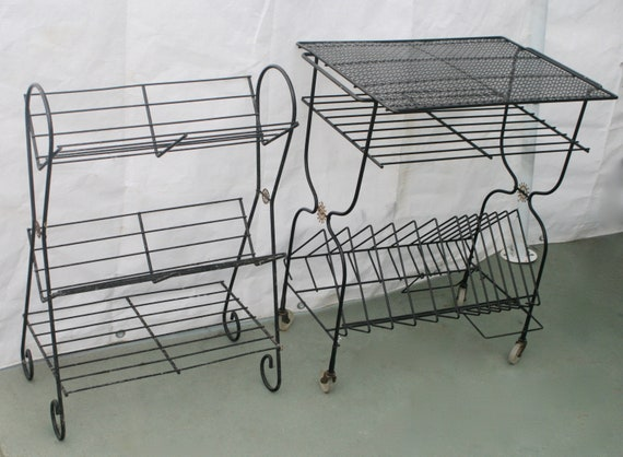 Fine 1950S Mid Century Modern Wire 3 Tier Record Book Shelf Starburst Evergreenethics Interior Chair Design Evergreenethicsorg