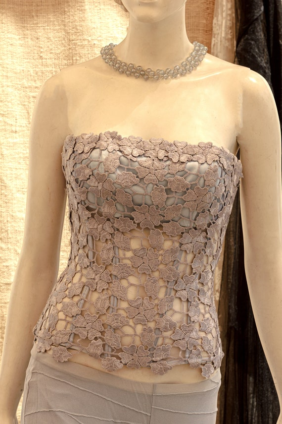 Lace Corset, Strapless Wedding Corset, Wedding To… - image 9