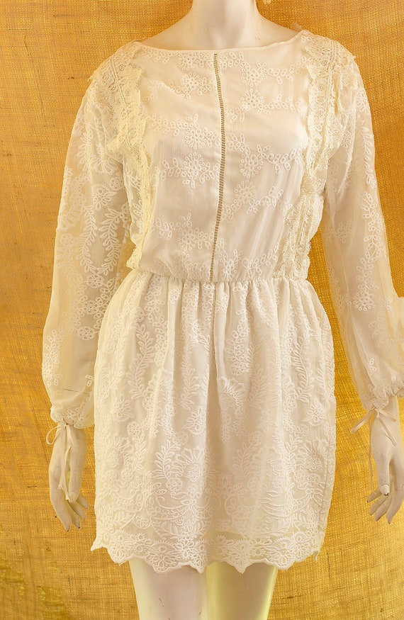 Unique Bridal Dress, Beach Bridal Dress, Short Rus