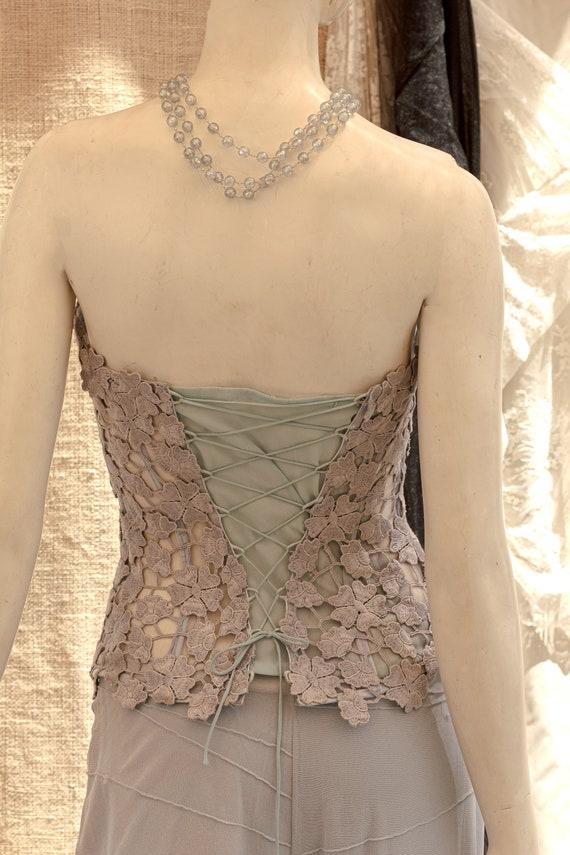 Lace Corset, Strapless Wedding Corset, Wedding To… - image 10
