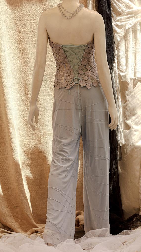 Lace Corset, Strapless Wedding Corset, Wedding To… - image 3