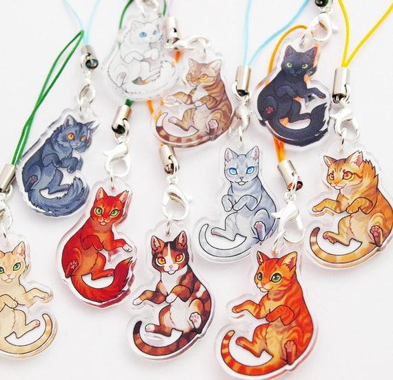 warrior cats acrylic mini charms etsy
