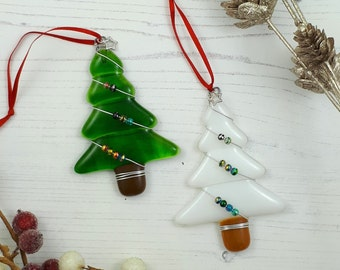 fused glass christmas ornaments etsy