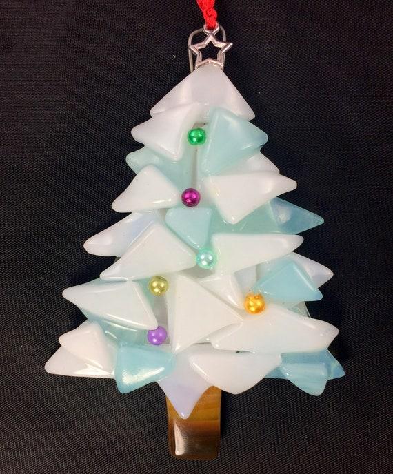3d Christmas Tree.Handmade Fused Glass 3d Christmas Tree Glass Hanging Decoration Xmas Tree Ornament Holiday Decor Christmas Gift Festive Present