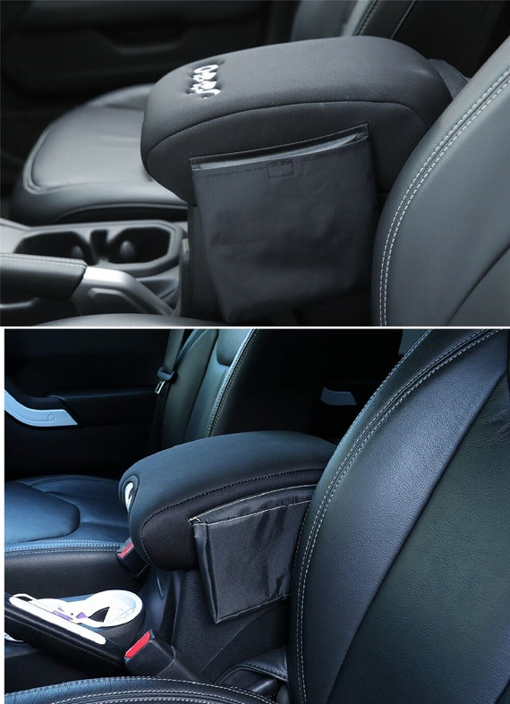 YOUAN Center Console Armrest Pad Cover with Storage Bag for 2018 2019 Jeep Wrangler JL /& Unlimited Sahara Sport Rubicon