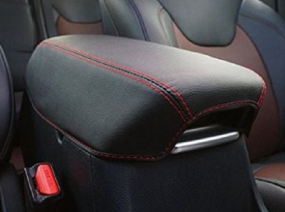 Sensational For Dodge Durango Citadel Gt R T Sxt 2011 2019 Faux Leather Console Cover Black With Handmade Red Stitching Armrest Cover Creativecarmelina Interior Chair Design Creativecarmelinacom