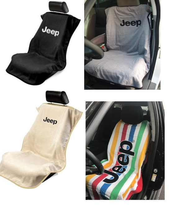 One Jeep Car Slipon Beach Towel Seat Covers Comes In Black Etsy
