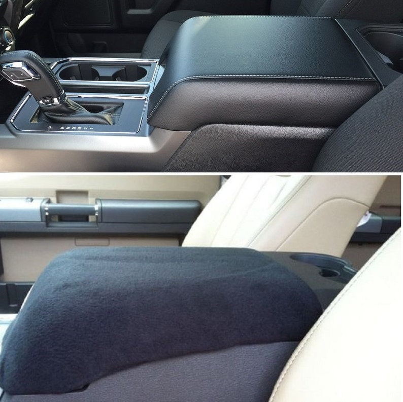 Ford 2004 18 F150 F250 Center Console Cover Black Only Fits Console Shown For Perfect Fit