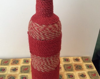Ficelle enroulé de bouteille de vin