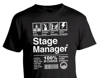 Stage Manager Theatre Tee, Musical Theatre, Thespian, Theatre Gift, Stage Crew, Drama Theater Graphic Tee, Christmas Gift