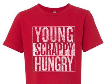 Hamilton Shirt Kids Young Scrappy Hungry Boys Shirt, Gift for Hamilton Fan, Theater Geek