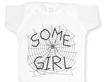Gift for Couples Baby Shower Charlottes Web Some Girl Shirt, Cute Baby Romper for Book Lover or Writer