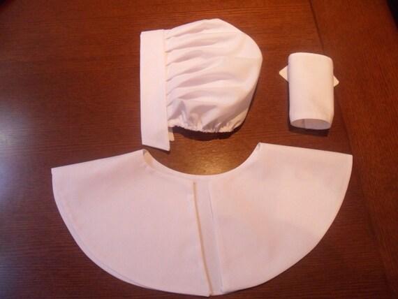 Ladies 3 Piece Puritan Amish Quaker Crucible Salem