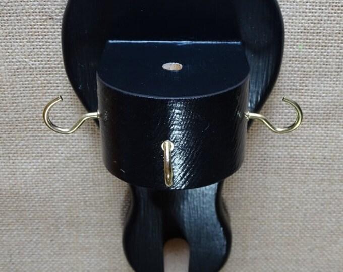 Narrowboat hat peg with tiller pin holder