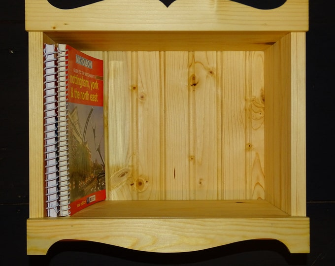Narrowboat guide book shelf unit