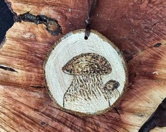 Bolete (Porcini) Mushroom Wood Slice Ornament