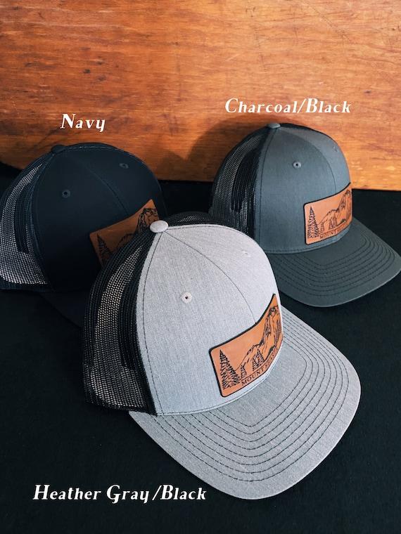 Sneffels Mountain Leather Patch Richardson Hat Adjustable Snapback Rocky Mountains Mt Colorado