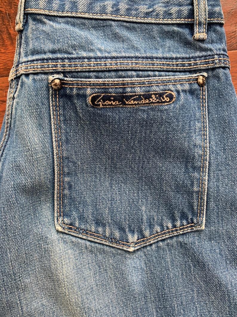 Vintage 1980s Jeans  Dark Wash Denim High Waist 80s Jeans  Gloria Vanderbilt Straight Leg Size Medium 27 Waist