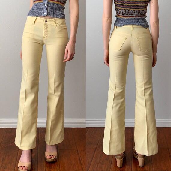 Vintage 1970s Pants / Low Rise Slim Fit Levi's Pan