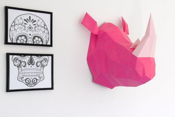 Cookie Craft /& Plantilla de Pintura de cara Corte láser Pastel de diseño de rinoceronte pequeño