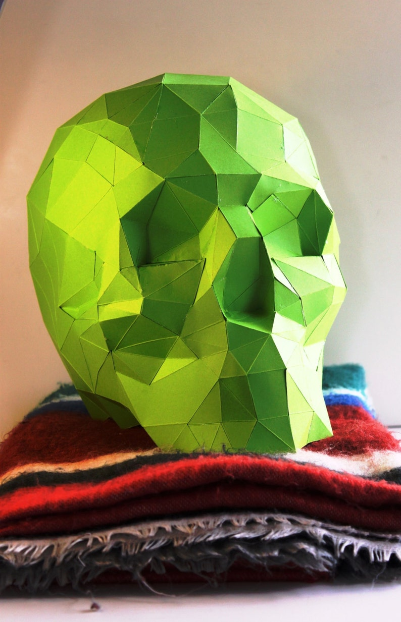 Handmade paper Sculpture DIY kit La mexicana Skull