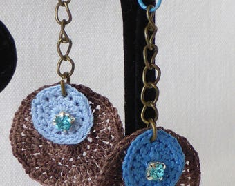 bamboo and cotton thread earrings