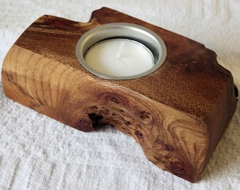Rustic Wooden Tealight Holder